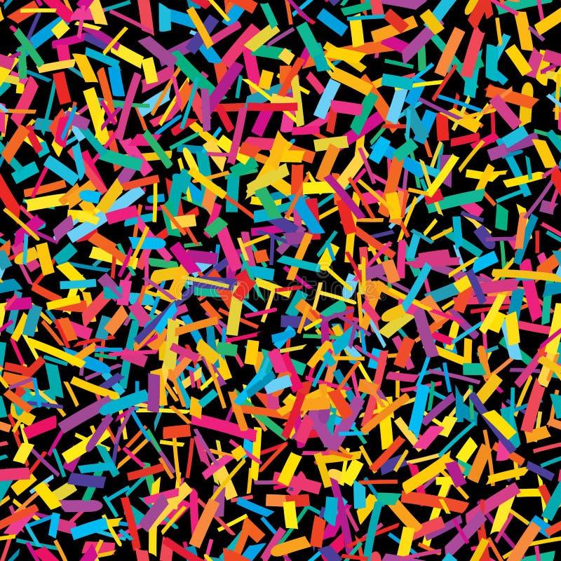 Teste padrão sem emenda colorido da parte dos confetes ilustração stock