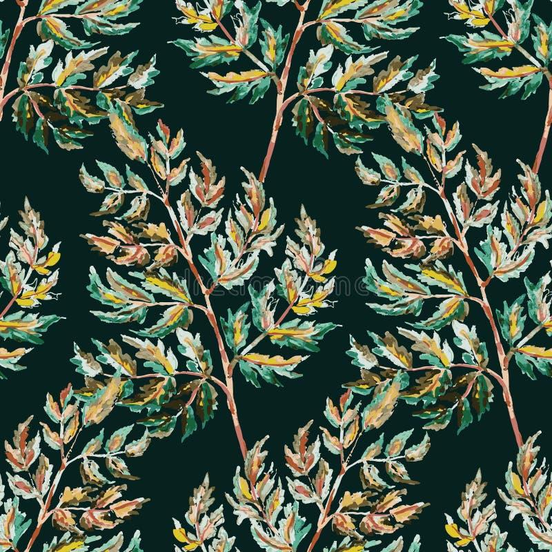 Teste padrão sem emenda colorido das folhas do outono ilustração stock