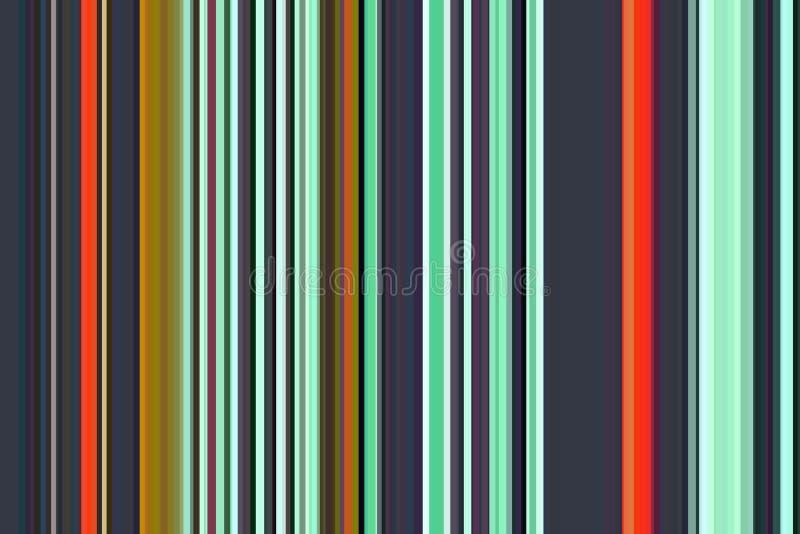 Teste padrão sem emenda colorido das listras do minimalismo de intervalo mínimo de Duotone Fundo abstrato da ilustração Cores mod ilustração do vetor
