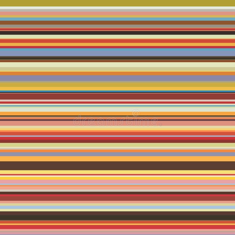 Teste padrão sem emenda colorido das listras horizontais ilustração royalty free