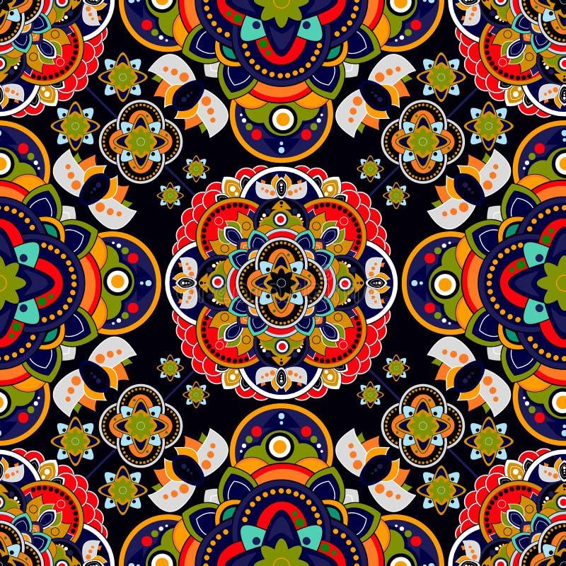Teste padrão sem emenda colorido de Paisley Papel de parede decorativo indiano ilustração royalty free