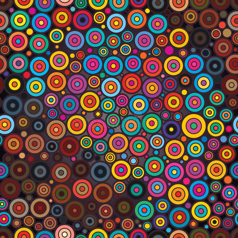 Teste padrão sem emenda colorido do círculo do círculo ilustração royalty free