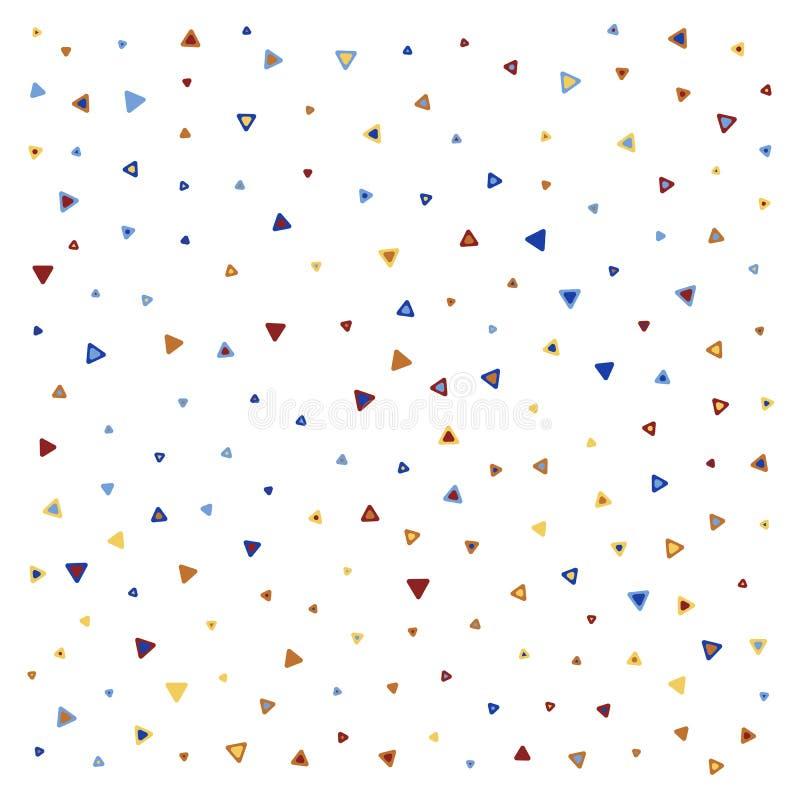 Teste padrão sem emenda colorido do triângulo ilustração do vetor