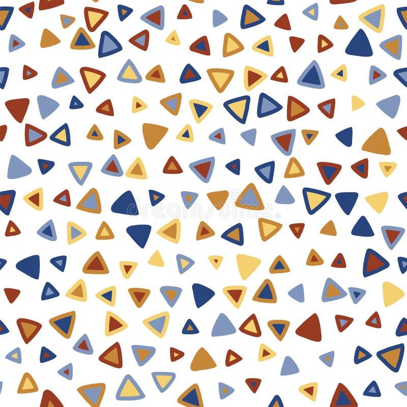 Teste padrão sem emenda colorido do triângulo ilustração stock