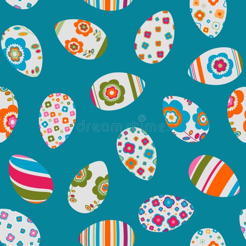 Teste padrão sem emenda colorido dos ovos de easter ilustração stock