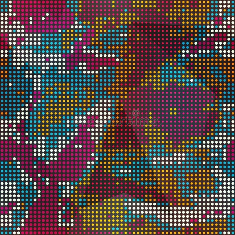 Teste padrão sem emenda colorido dos pontos ilustração royalty free