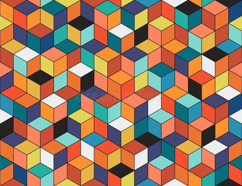 Teste padrão sem emenda colorido geométrico Textura do mosaico ilustração do vetor