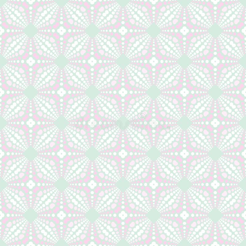 Teste padrão sem emenda colorido macio da mola Círculos, pontos e pontos ilustração do vetor