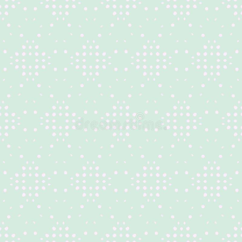 Teste padrão sem emenda colorido macio da mola Círculos, pontos e Dots Endless Textures Aperfeiçoe para o fundo pastel e a superf ilustração stock