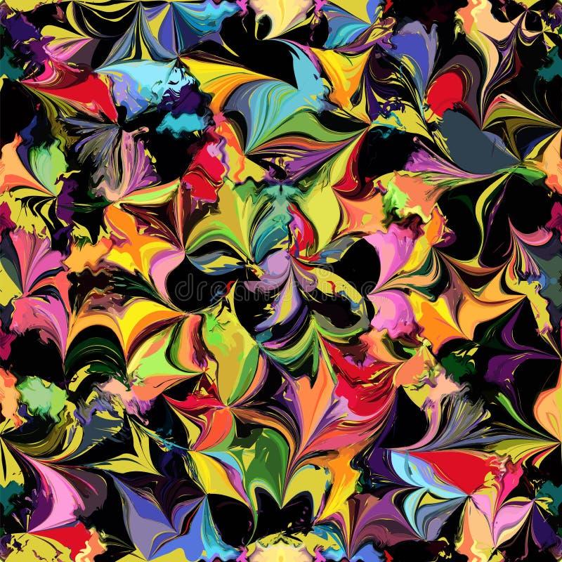 Teste padrão sem emenda colorido manchado Grunge ilustração do vetor