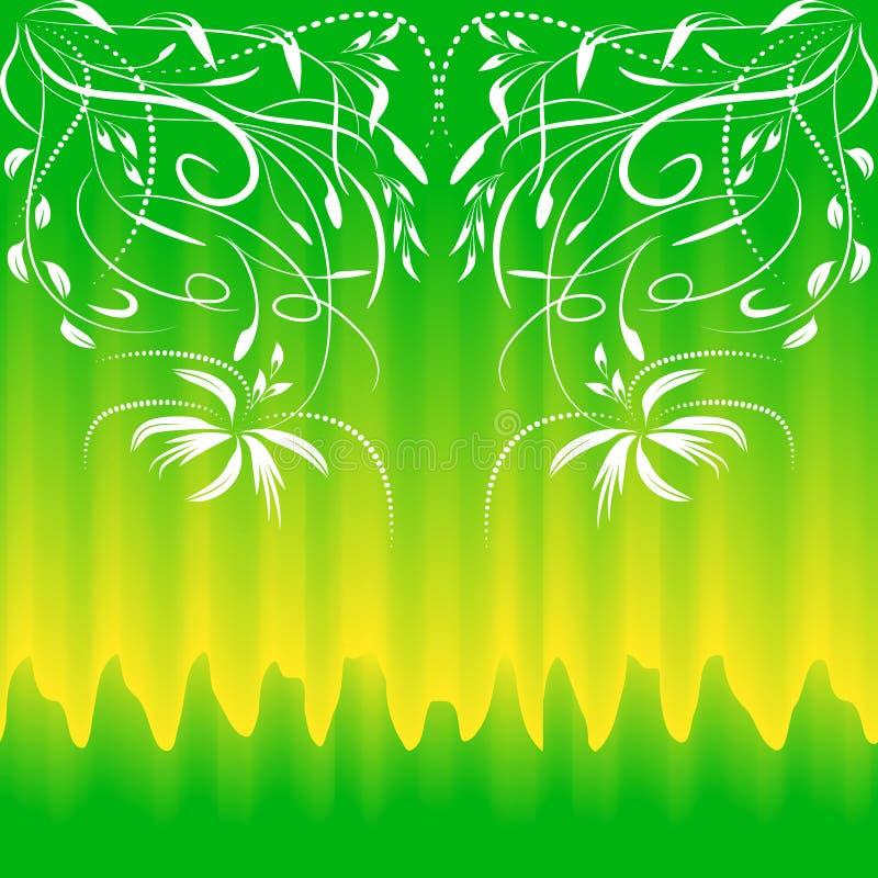Teste padrão sem emenda colorido para fundos e projeto Cor verde amarela delicada Sumário floral colorido sem emenda ilustração royalty free