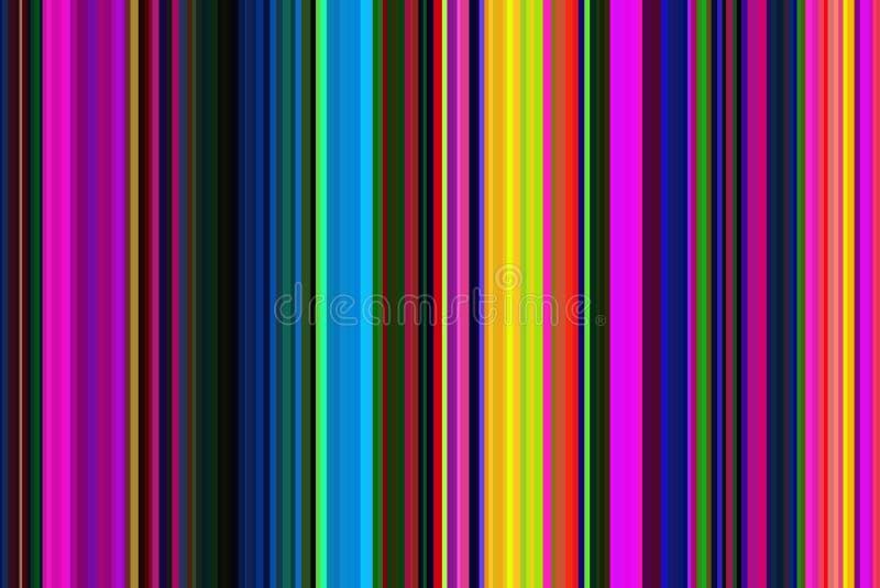 Teste padrão sem emenda colorido colorido psicadélico retro das listras Fundo abstrato da ilustração Cores modernas à moda da ten ilustração stock