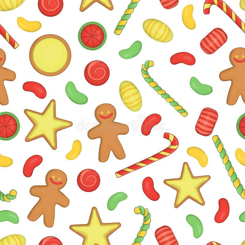 Teste padrão sem emenda colorido vetor dos doces ilustração do vetor