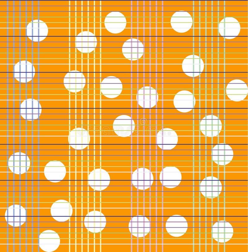 Teste padrão sem emenda com às bolinhas brancos em um fundo da manta ilustração stock