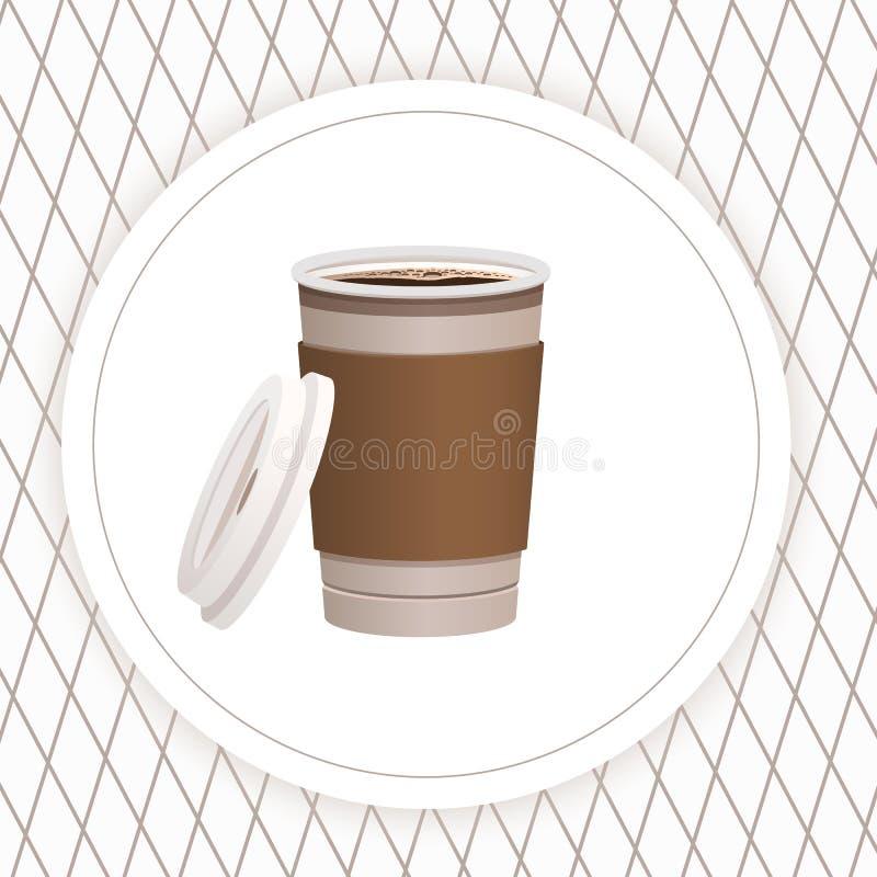 Teste padrão sem emenda com ícones do café e do chá Ilustração do estoque do vetor, EPS 10 ilustração royalty free