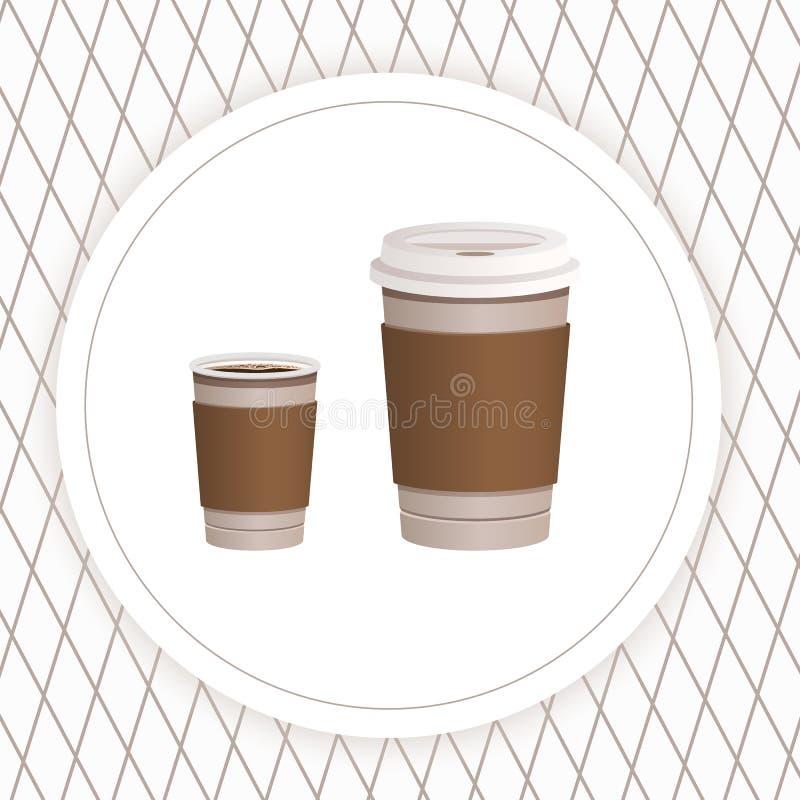 Teste padrão sem emenda com ícones do café e do chá Ilustração do estoque do vetor, EPS 10 ilustração stock