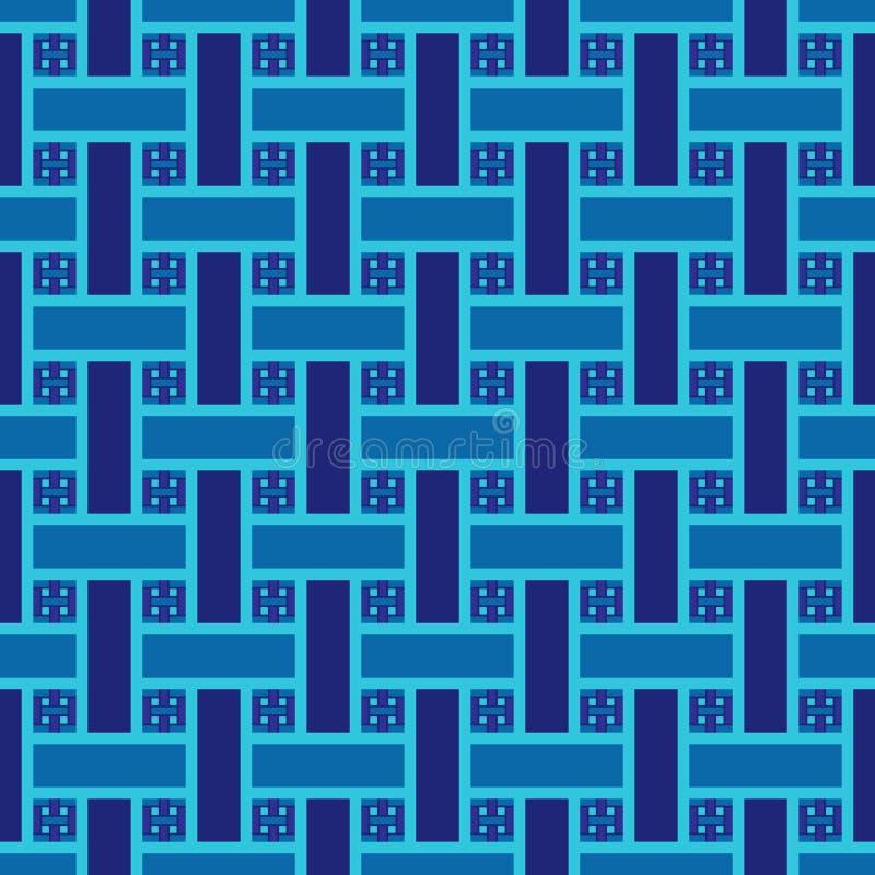 Teste padrão sem emenda com as fitas entrelaçadas azul ilustração royalty free