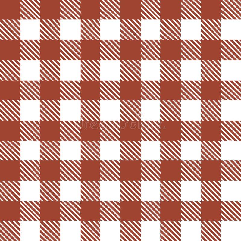 Teste padrão sem emenda com as listras e quadrados brancos vermelhos ilustração royalty free