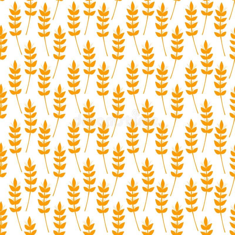 Teste padrão sem emenda com as orelhas do trigo ilustração do vetor