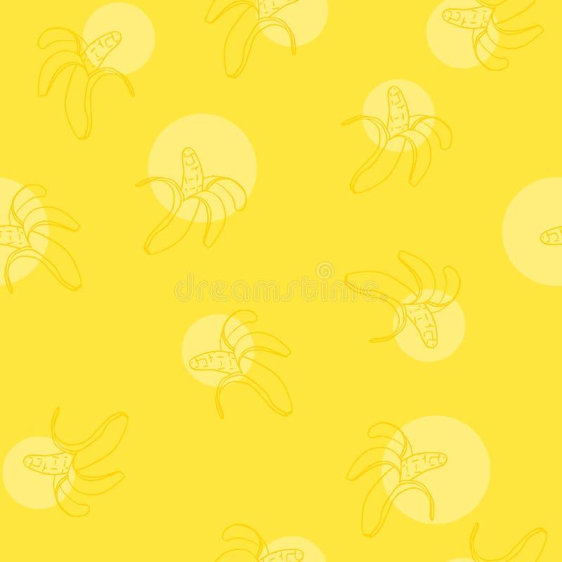 Teste padrão sem emenda com banana amarela ilustração stock