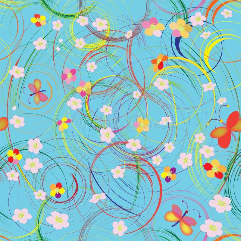 Teste padrão sem emenda com círculos do arco-íris        ilustração do vetor