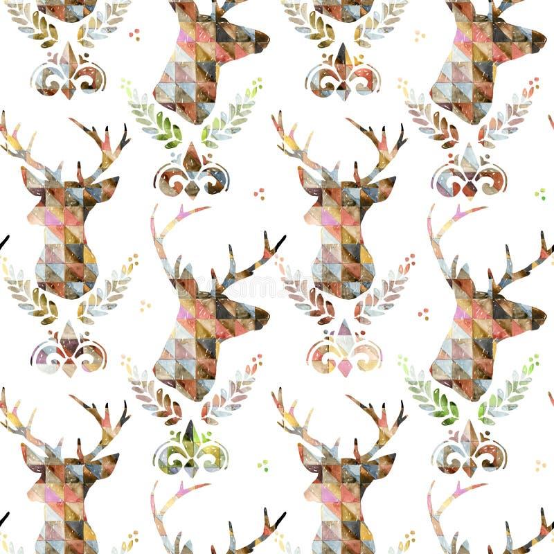 Teste padrão sem emenda com cervos Ilustração dos cervos ilustração royalty free