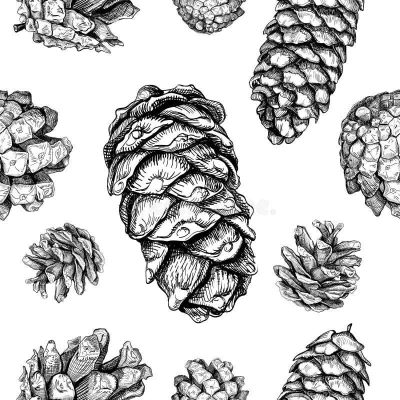 Teste padrão sem emenda com cones ilustração royalty free