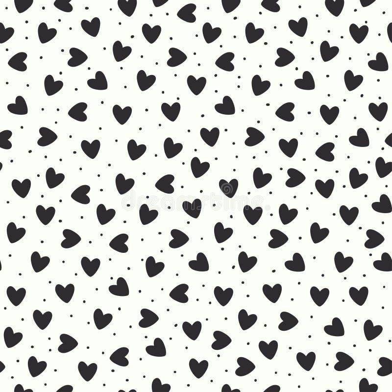 Teste padrão sem emenda com corações ilustração stock