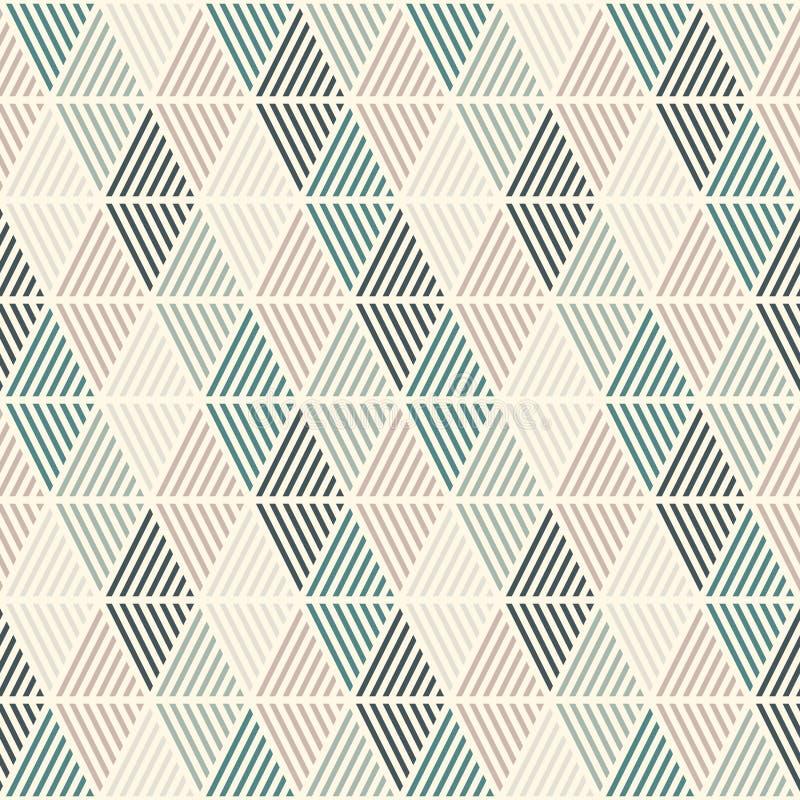 Teste padrão sem emenda com diamantes chocados Papel de parede de Argyle Motivo dos rombos e das pastilhas Figuras geométricas re ilustração stock