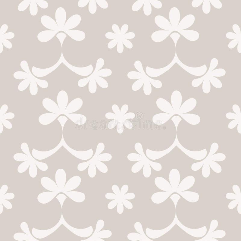 Teste padrão sem emenda com elementos cinzentos ilustração royalty free
