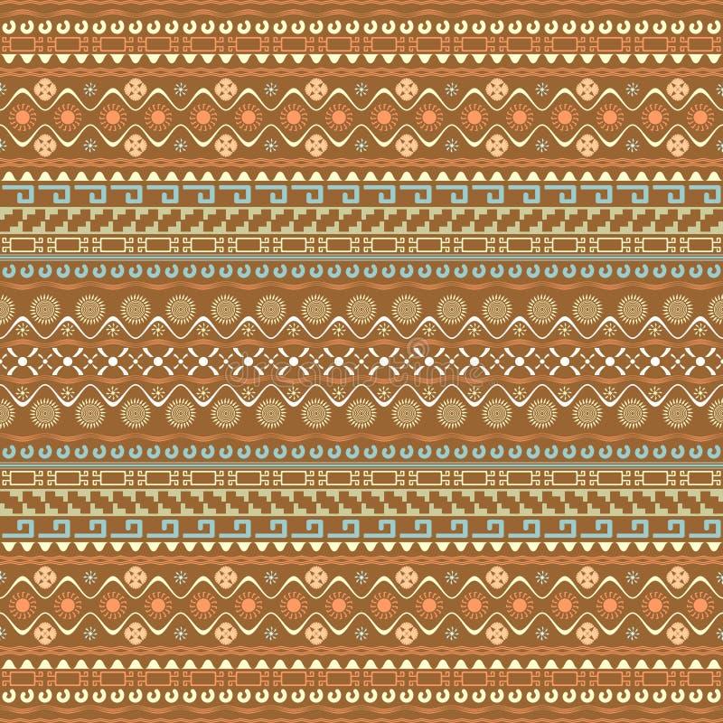Teste padrão sem emenda com elementos do estilo do Maya ilustração do vetor