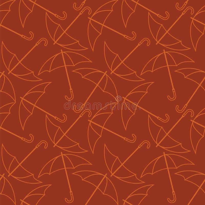 Teste padrão sem emenda com esboços dos guarda-chuvas ilustração royalty free