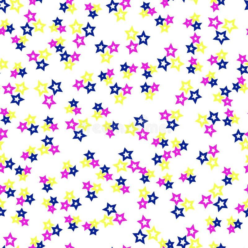 Teste padrão sem emenda com estrelas ilustração do vetor