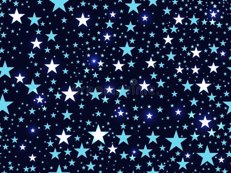 Teste padrão sem emenda com estrelas, espaço profundo Vetor ilustração royalty free