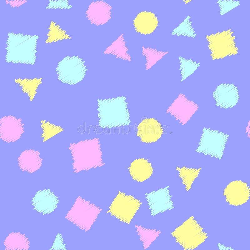 Teste padrão sem emenda com figuras geométricas Teste padrão da textura Vetor ilustração royalty free