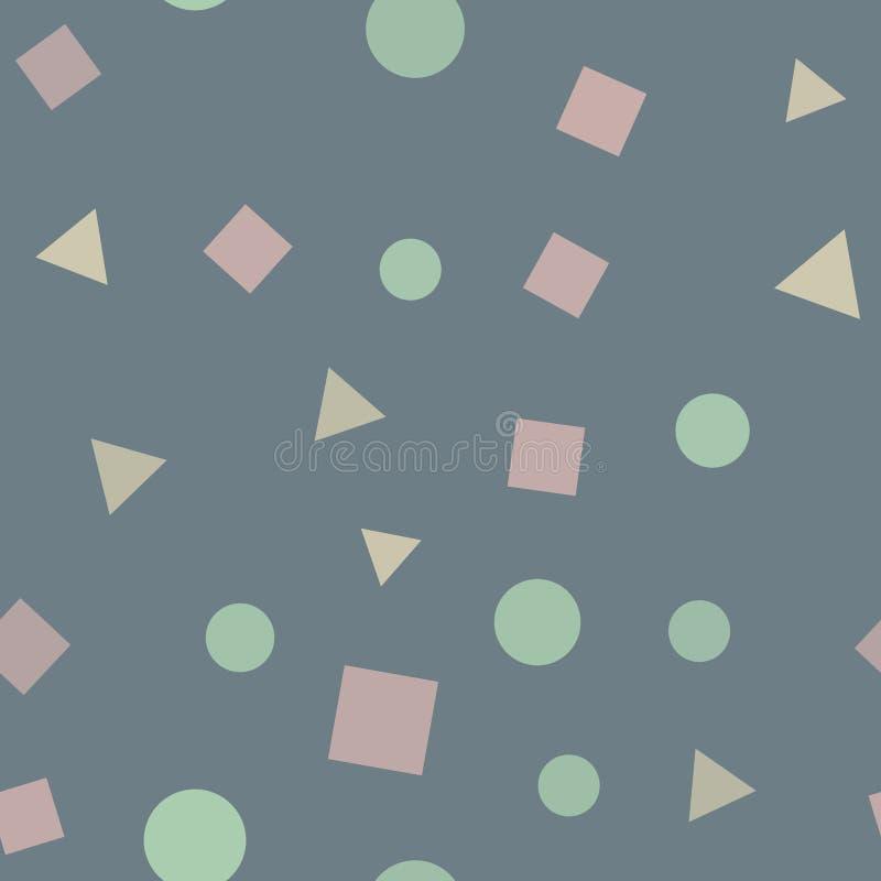Teste padrão sem emenda com figuras geométricas Teste padrão da textura Vetor ilustração do vetor