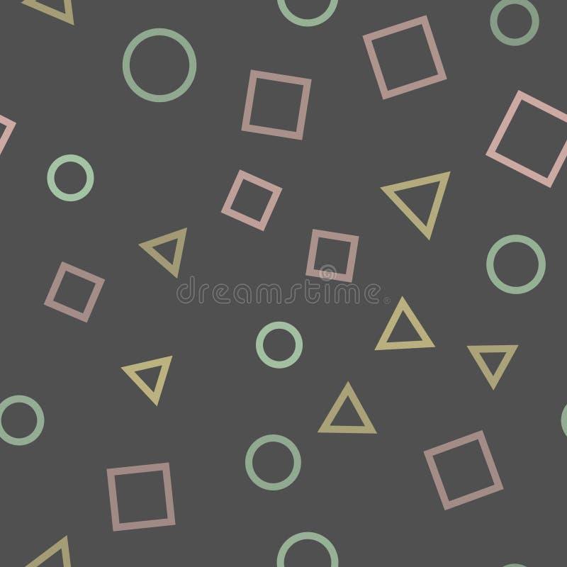 Teste padrão sem emenda com figuras geométricas Teste padrão da textura Vetor ilustração stock