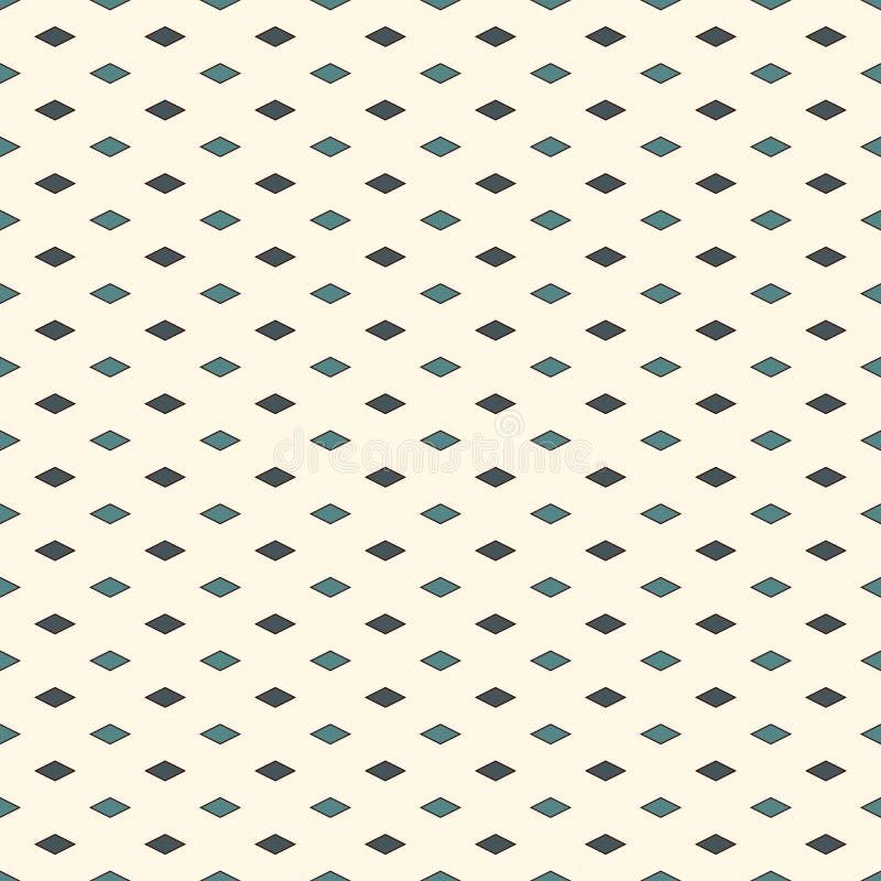 Teste padrão sem emenda com figuras geométricas Fundo abstrato decorativo repetido do diamante Motivo dos rombos ilustração stock