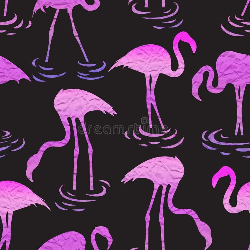 Teste padrão sem emenda com flamingos cor-de-rosa fotos de stock