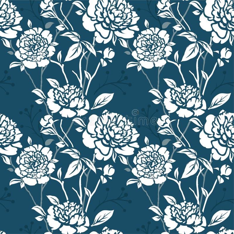 Teste padrão sem emenda com flores ilustração stock