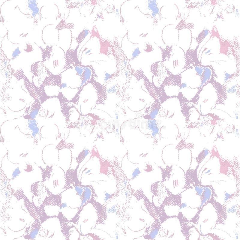 Teste padrão sem emenda com flores roxas pastel ilustração royalty free