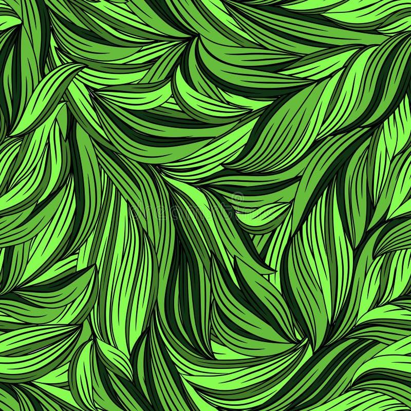 Teste padrão sem emenda com folhas brilhantes ilustração stock