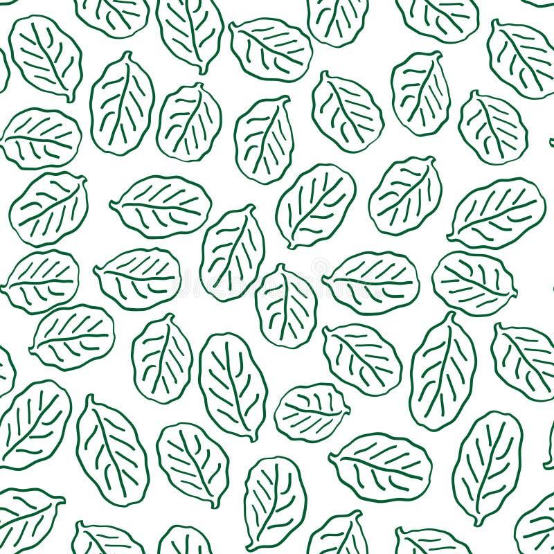 Teste padrão sem emenda com folhas verdes imagem de stock