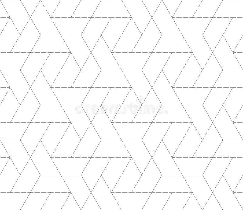 teste padrão sem emenda com formas e símbolos geométricos ilustração stock