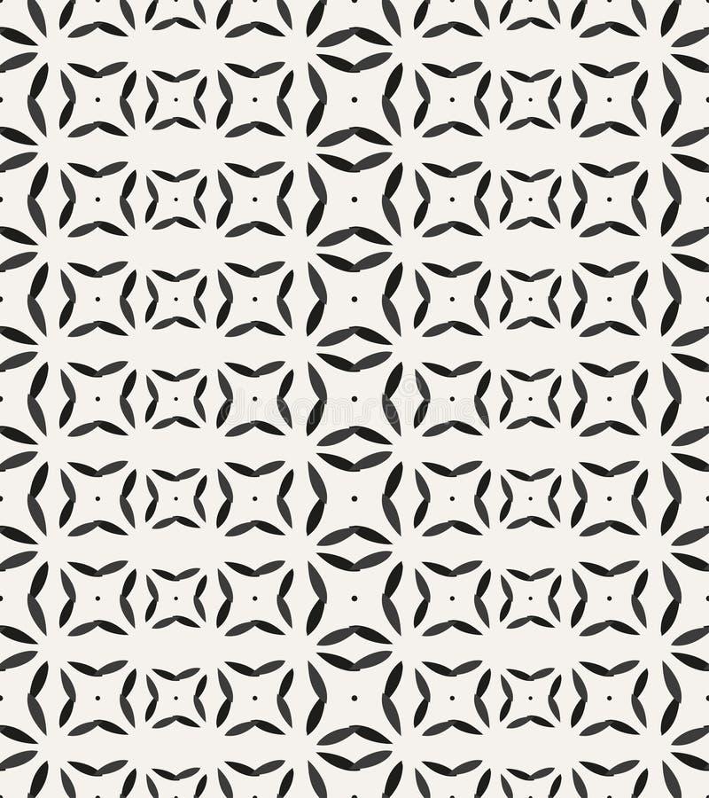 teste padrão sem emenda com formas e símbolos geométricos ilustração do vetor