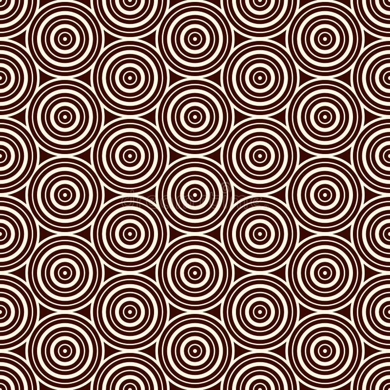 Teste padrão sem emenda com formulários geométricos simples Papel de parede repetido dos círculos Fundo abstrato com redemoinhos  ilustração do vetor