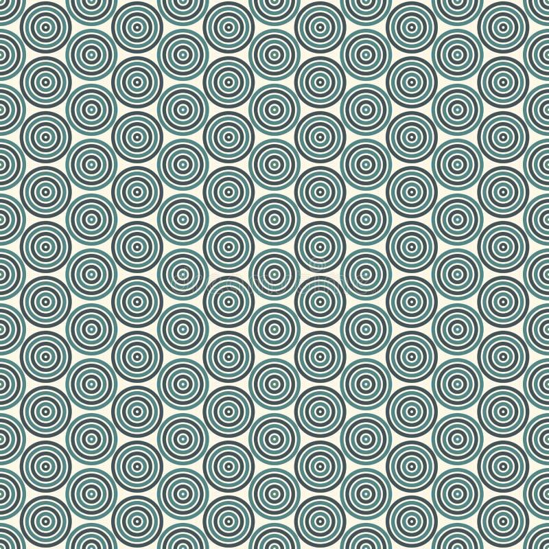 Teste padrão sem emenda com formulários geométricos simples Papel de parede repetido dos círculos Fundo abstrato com redemoinhos  ilustração royalty free