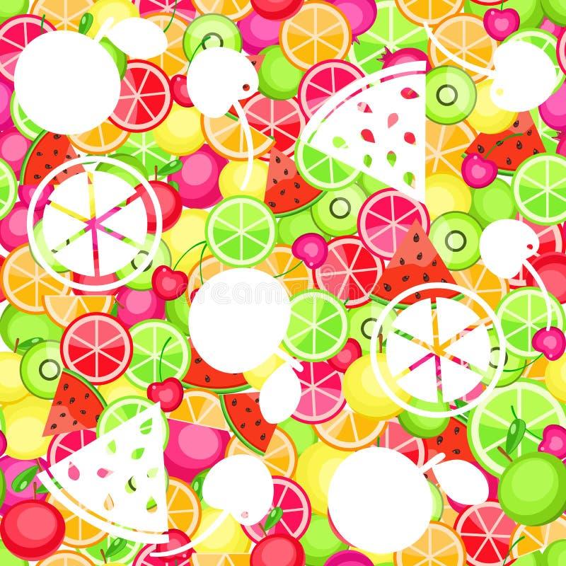Teste padrão sem emenda com frutas ilustração royalty free