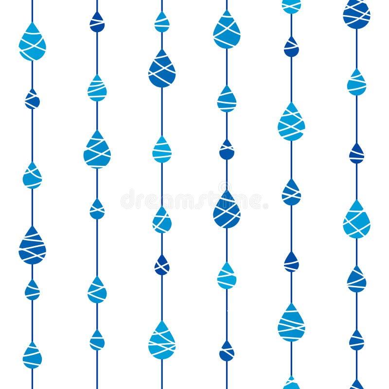 Teste padrão sem emenda com gotas da chuva ilustração do vetor