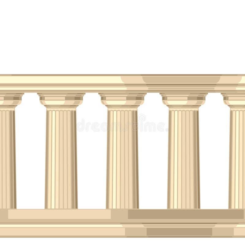 Teste padrão sem emenda com grego antigo doric ilustração royalty free